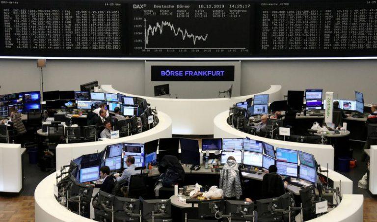 European shares falter as year-end rally fades